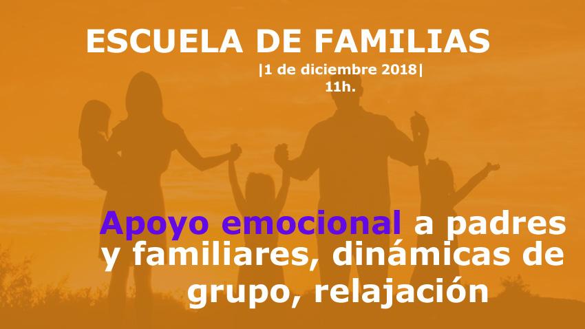 Escuela de familias: apoyo emocional y técnicas de relajación
